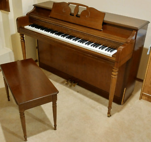 For Sale: 88 Key Wurlitzer Upright Piano & Matching Bench