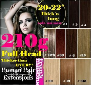 CLIP IN REMY HUMAN HAIR EXTENSIONS★Brown Blonde Black★★