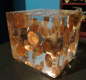 1967 Penny Glass Cube