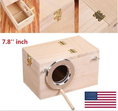 2018 Shellhard Wooden Nest Pet Parrot Budgies Parakeet Nesting Box Bird Supplies