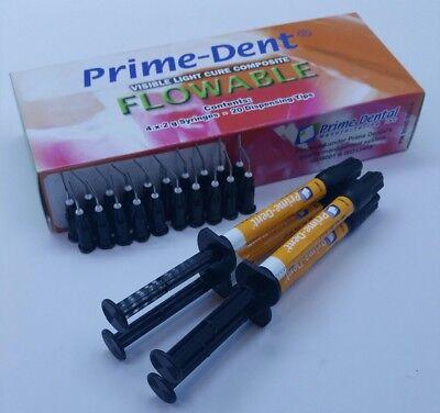 Vlc Light Cure Composite Flowable 4 Syringes A1 Kit Exp102021