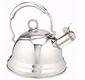Lagostina Stainless Steel Lock-Open Spout Kettle, 2.3-qt
