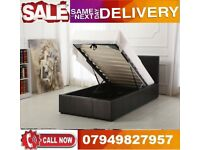 Double Leather Ottoman Storage Gas Lift Up Bed Frame With Memorey Foam Mattress UAYSJ