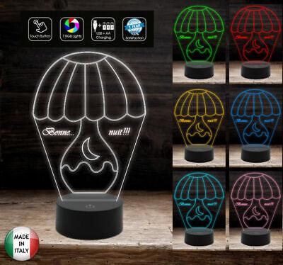 Lampada led 7 colori selezionabili ABAJUR Luce da notte Regalo personalizzato