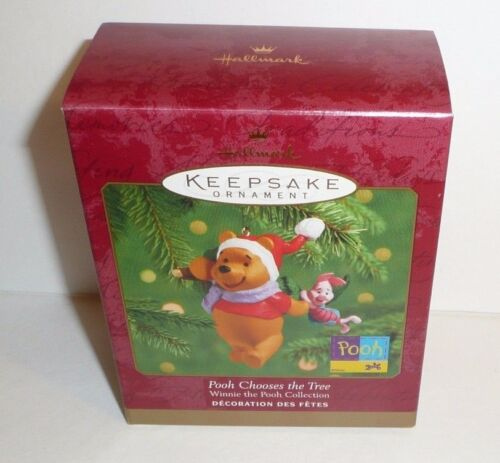 Winnie the Pooh Holiday Ornament Hallmark Keepsake Xmas Chooses the Tree Piglet