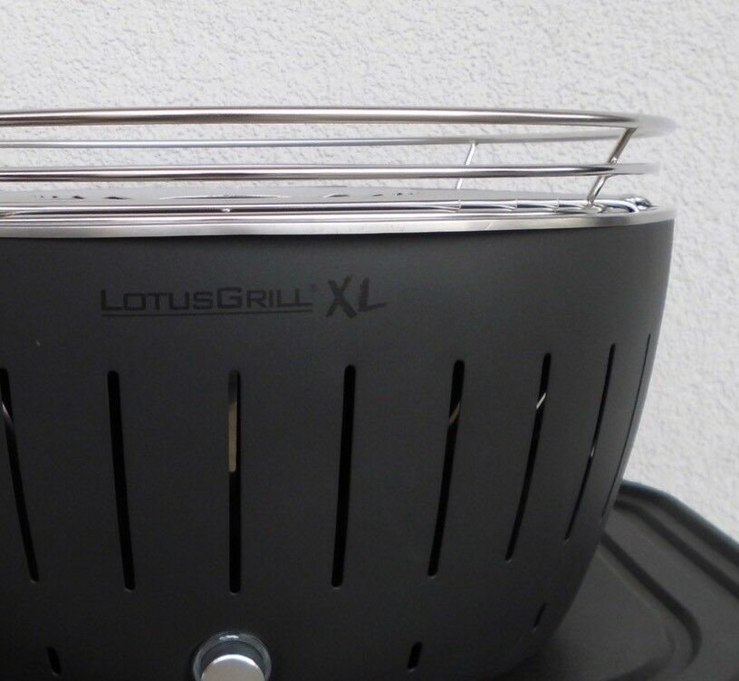 LotusGrill XL Holzkohlegrill, Grau, wie neu inkl. Zubehör-Set