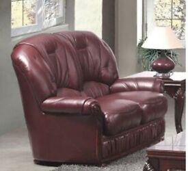 Two Seater Leather Sofa NEW