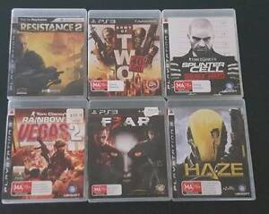 PS3 First person shooter games (6) - bargain price Old Beach Brighton Area Preview