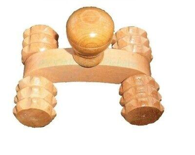 Massageroller Therapie Holz Massagegerät Handroller Selbstmassage Rücken Beine - Roller Rückenmassagegerät