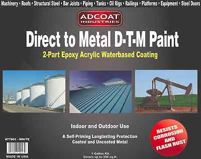 Direct To Metal Dtm Paint 2-part Epoxy Coating Interiorexterior -1g White