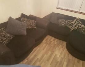 2 sofa 1 off them is bed soga good condition