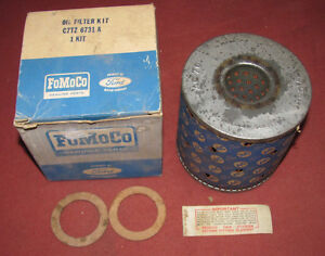 NOS-1967-67-Ford-Truck-Oil-Filter-Kit-FoMoCo-C7TZ-6731-A-AC70