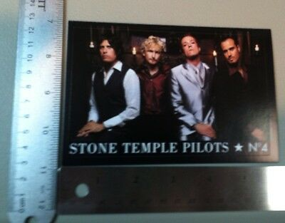 Stone Temple Pilots Sticker. No. 4 Vintage And Original. 3 7/8 X 5 7/8 Inches.