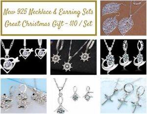 New 925 Necklace & Earring Sets - Great Christmas Gift