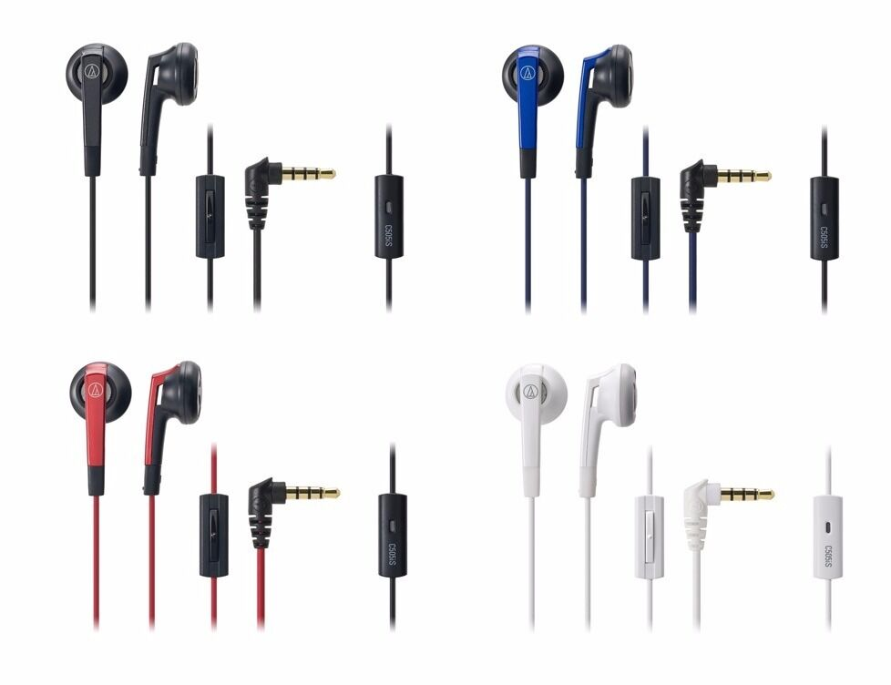 audio technica ATH-C505iS In-Ear Headphones Remote/Mic for S