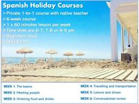 1-to-1 Spanish Holiday Course with Native Teacher / Spanish Lessons