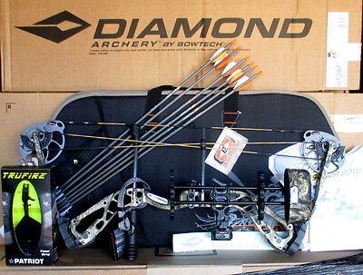 NEW Diamond by Bowtech Infinite Edge SB-1 320 Camo BOW Package RH 7-70# 15-30