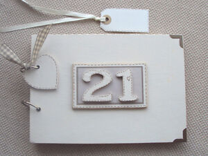 PERSONALISED 21ST birthday .A5  SIZE. .PHOTO ALBUM/SCRAPBOOK/MEMORY BOOK.