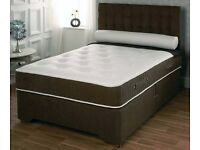 BRAND NEW DOUBLE DIVAN BED WITH MEMORY FOAM MATTRESS ONLY £145