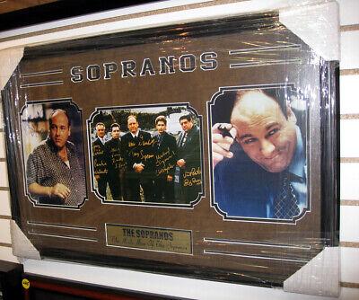 Sopranos 3 Photo ShadowBox Gandolfini & Cast Signed