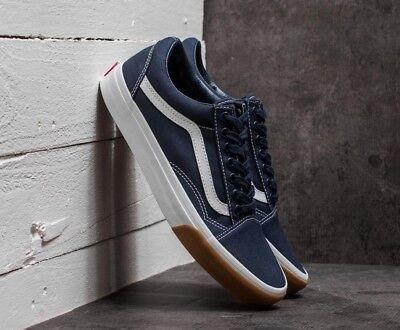 Vans OLD SKOOL CANVAS SKATE Shoes Size Men's 10.5  GUM BUMPER / DRESS BLUES