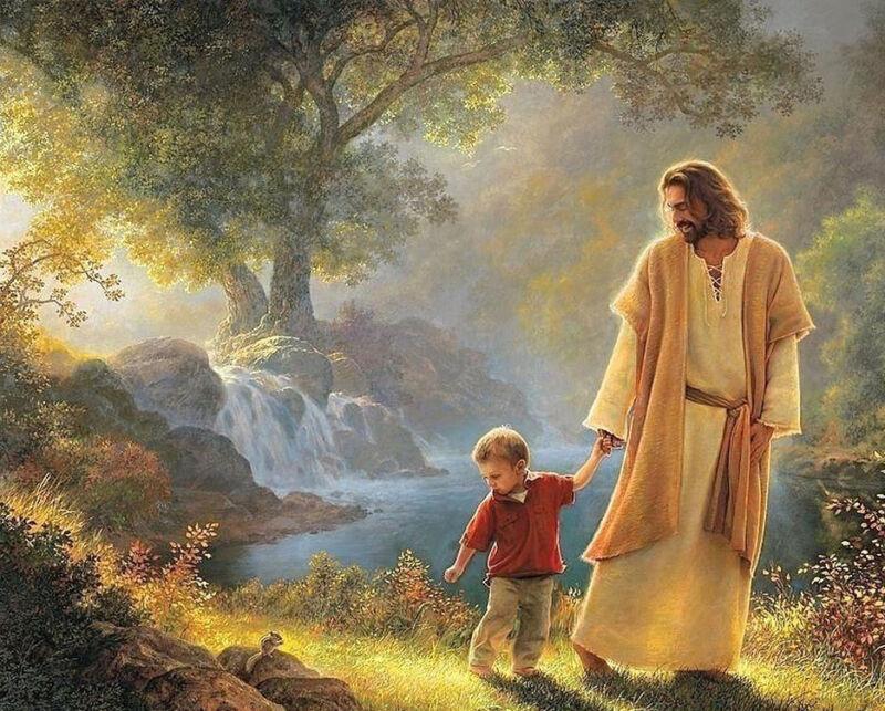 JESUS CHRIST LITTLE CHILD 8X10 PHOTO PICTURE CHRISTIAN ART