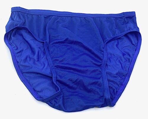 Vintage Blue Nylon Mens Briefs Semi-Sheer Slinky Underwear Bulge Sz Medium 32-34