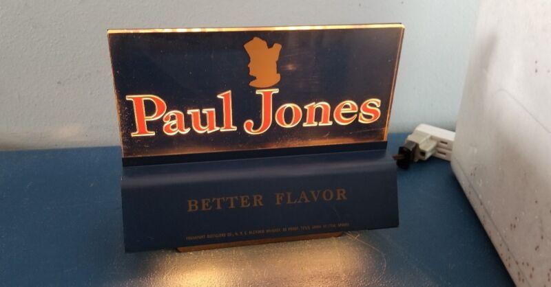 VTG 1930s-40s paul jones whisky back bar reverse on light up cash register sign