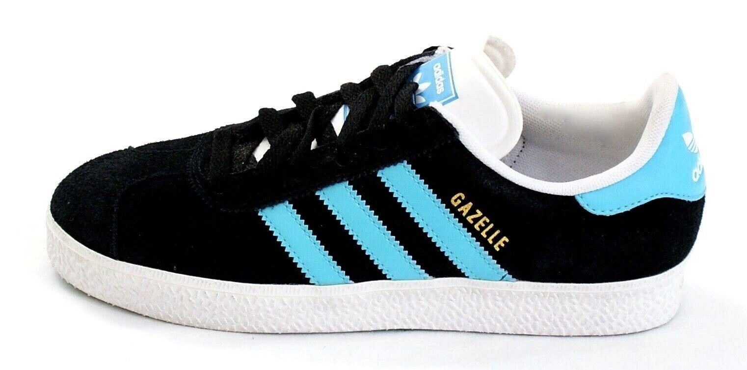 Adidas Gazelle 2 Black & Blue Nubuck Suede Training Sneakers Shoes Men's NEW