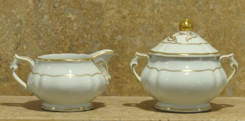Bernardaud Limoges Louis XV Creamer & Sugar Bowl