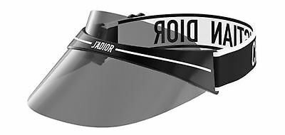 Christian Dior JA'DIOR Club 1 Visor Sunglasses Black/White/Grey Lens new