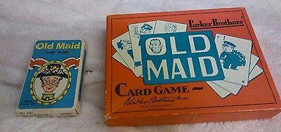 2 sets vintage old maid card games Parker bros. Warren