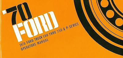 1970 70 Ford Truck Owner's Manual- F100-f350