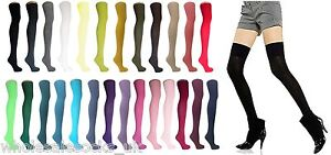 THIGH-HIGH-OVER-THE-KNEE-SOCKS-26-COLOURS-UK-4-8-SALE-XMAS-STOCKING-FILLER