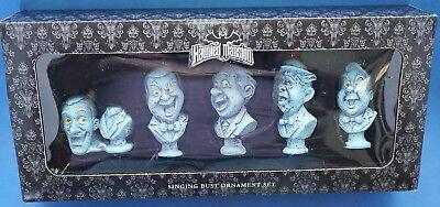 DISNEY PARKS HAUNTED MANSION SINGING BUST ORNAMENT SET HALLOWEEN Mint In Box](Peck Park Halloween)