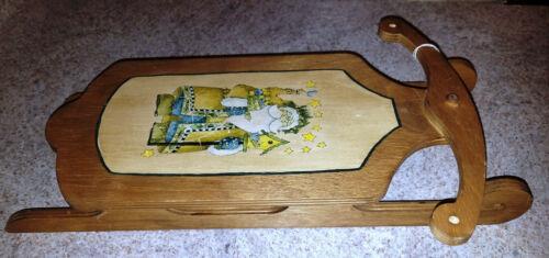 Hand-Made WOODEN Wood SLED Sleigh WALL SHELF