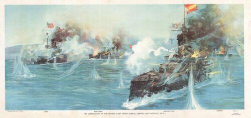 1898 Reuterdahl View of the Battle of Santiago de Cuba