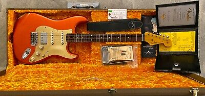 2018 Fender Custom Shop 1962 Stratocaster, HSS EVH Pickup, Relic Orange Metallic