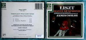 FRANZ LISZT - DANTE SYMPHONIE - JAMES CONLON - 1 CD n.1714 - Italia - SOLO IN CASO DI MATERIALE DIFFORME DA QUANTO DESCRITTO IN ASTA - Italia