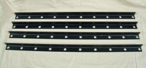 "(4) 1""X1"" POWDER COATED BLACK ANGLE IRON STEEL CORNER BRACKET BRACE SUPPORT"