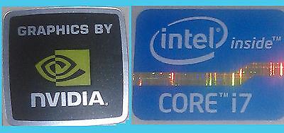 NEW Intel inside Core i7 + Nvidia WINDOWS computer 8 sticker PC 10 Genuine