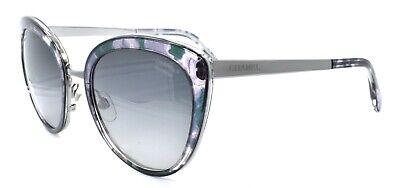 Chanel 4208 c.464/S8 Women's Sunglasses Cat-eye Silver Green / Polarized (Chanel Cat Eye)