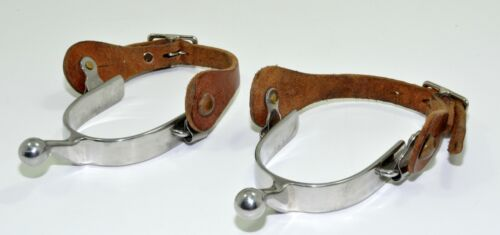 Humane Ball End Spurs - Stainless Steel with Leather Straps