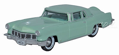 - Oxford 1956 Lincoln Continental Mark II Green Die-Cast Metal Car 1/87 HO Scale