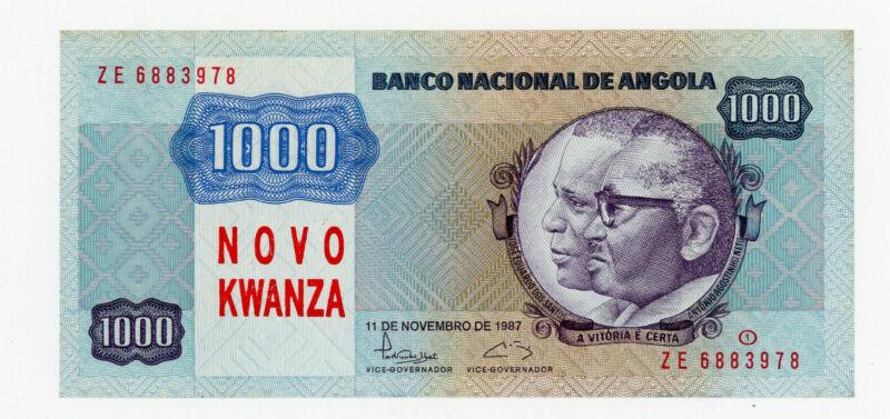 Angola … P-124 … 1,000 Kwanzas … 1987 … *UNC* ... Replacement