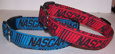 Wet Nose Designs Nascar Striped Dog Collar Red or Blue Racing  Red Striped Dog Collar