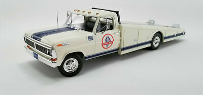 """ACME A1801404 1970 FORD F-350 RAMP TRUCK """"SHELBY"""" WHITE DIECAST MODEL 1:18"""