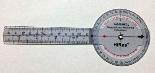 """Baseline Plastic HiRes 360 Degree ISOM Goniometer, 12"""" Length"""