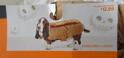 Size X-Lge Hot Dog Hotdog Pet Halloween Costume New Hyde & Eek 083 09 2470 1200