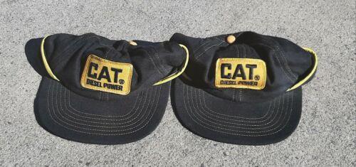 Vintage Cat Diesel Power Trucker Hat NOS Caterpillar Bulldozer Lot Of 2 Hats USA - $10.50